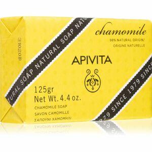 Apivita Natural Soap Chamomile čistiace tuhé mydlo 125 g