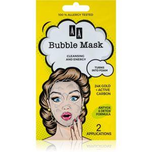 AA Cosmetics AA Bubble Mask čistiaca pleťová maska 2 x 4 ml