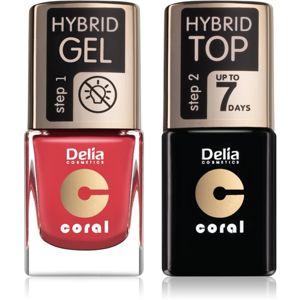 Delia Cosmetics Coral Nail Enamel Hybrid Gel výhodné balenie na nechty pre ženy odstín 18