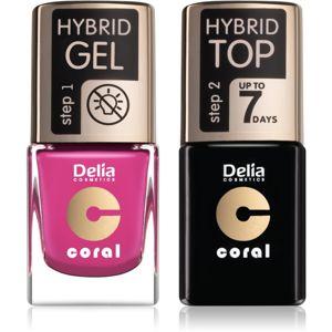 Delia Cosmetics Coral Nail Enamel Hybrid Gel výhodné balenie na nechty pre ženy odstín 30