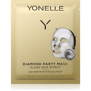 Yonelle Diamond Party Mask plátenná maska s hydratačným a revitalizačn