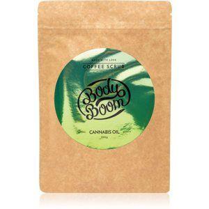 BodyBoom Cannabis Oil kávový telový peeling 200 g