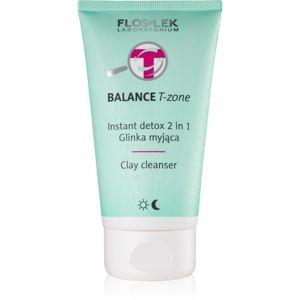 FlosLek Laboratorium Balance T-Zone čistiaca emulzia a maska pre zmieš