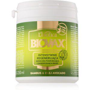 L'biotica Biovax Bamboo & Avocado Oil regeneračná maska na vlasy 250 ml