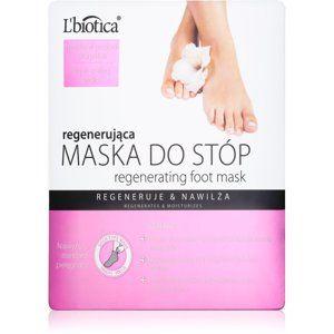 L'biotica Masks regeneračná maska na chodidlá vo forme ponožiek 32 ml