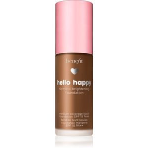 Benefit Hello Happy Flawless Brightening Foundation rozjasňujúci tekutý make-up SPF 15 odtieň 12 Dark Warm 30 ml