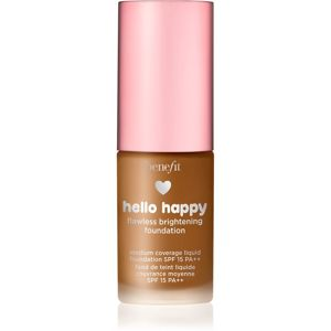 Benefit Hello Happy Flawless Brightening Foundation Mini rozjasňujúci tekutý make-up SPF 15 odtieň 09 Deep Neutral 10 ml