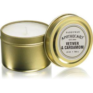 Paddywax Apothecary Vetiver & Cardamom vonná sviečka v plechu 56 g