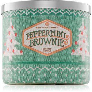 Bath & Body Works Peppermint Brownie vonná sviečka 411 g