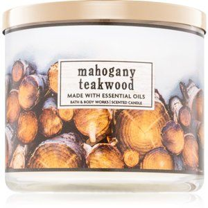 Bath & Body Works Mahogany Teakwood vonná sviečka I. 411 g