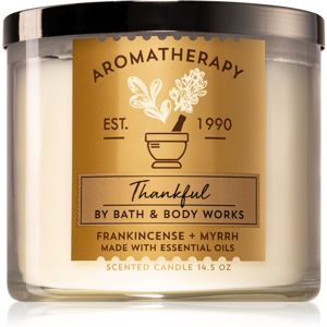 Bath & Body Works Frankincense + Myrrh vonná sviečka (Thankful) 411 g