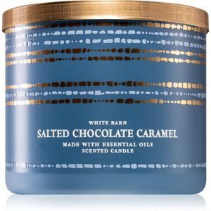 Bath & Body Works Salted Chocolate Caramel vonná sviečka 411 g