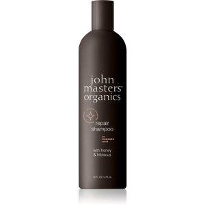 John Masters Organics Honey & Hibiscus obnovujúci šampón pre poškodené vlasy 473 ml