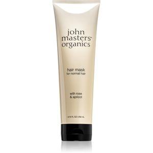 John Masters Organics Rose & Apricot maska na vlasy 258 ml