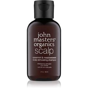 John Masters Organics Scalp stimulujúci šampón pre zdravú pokožku hlavy 60 ml