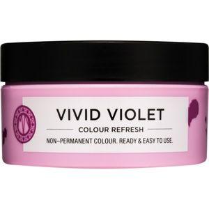 Maria Nila Colour Refresh Vivid Violet jemná vyživujúca maska bez permanentných farebných pigmentov výdrž 4 – 10 umytí 0.22 100 ml