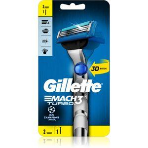 Gillette Mach3 Turbo Champions League holiaci strojček + 2 náhradné hlavice