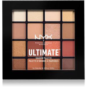 NYX Professional Makeup Ultimate Shadow paletka očných tieňov odtieň 03 Warm Neutrals 16 x 0,83 g