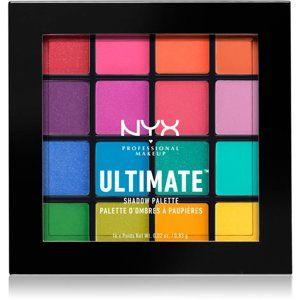NYX Professional Makeup Ultimate Shadow paletka očných tieňov odtieň 04 Brights 16 x 0,83 g