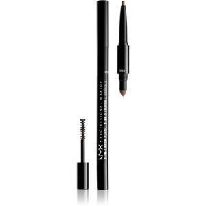 NYX Professional Makeup 3-In-1 Brow Pencil viacúčelový produkt na obočie odtieň 02 Taupe