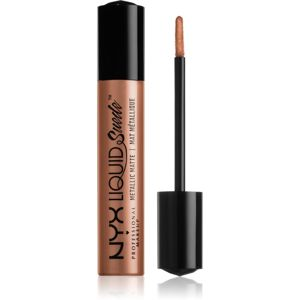 NYX Professional Makeup Liquid Suede™ Metallic Matte Tekutý vodeodolný rúž s metalickým finišom odtieň 38 Exposed 4 ml