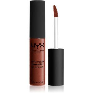 NYX Professional Makeup Soft Matte Metallic Lip Cream tekutý rúž s metalicky matným finišom odtieň 12 Dubai 6,7 ml
