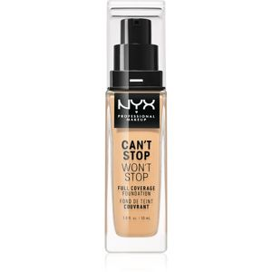 NYX Professional Makeup Can't Stop Won't Stop vysoko krycí make-up odtieň 7.5 Soft Beige 30 ml