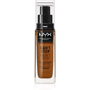 NYX Professional Makeup Can't Stop Won't Stop vysoko krycí make-up odtieň 22.3 Walnut 30 ml