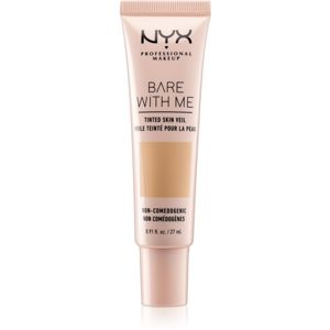 NYX Professional Makeup Bare With Me Tinted Skin Veil ľahký make-up odtieň 04 True Beige Buff 27 ml