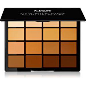 NYX Professional Makeup Pro Foundation Palette kontúrovacia paletka na tvár 16 x 1,1 g