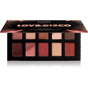 NYX Professional Makeup Love Lust Disco paletka očných tieňov odtieň 03 Rosé And Play 10 x 1,1 g