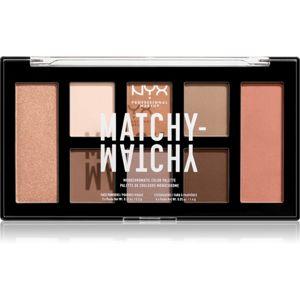 NYX Professional Makeup Matchy-Matchy paletka očných tieňov odtieň 01 Taupe 15 g