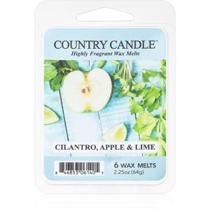 Country Candle Cilantro, Apple & Lime vosk do aromalampy 64 g