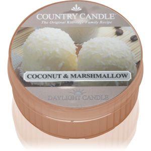 Country Candle Coconut & Marshmallow čajová sviečka 42 g