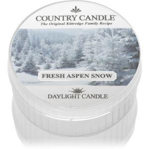Country Candle Fresh Aspen Snow čajová sviečka 42 g