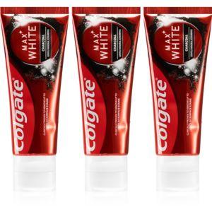 Colgate Max White Charcoal bieliaca zubná pasta s aktívnym uhlím 3 x 75 ml