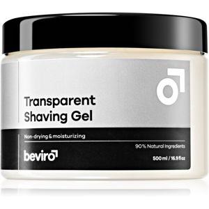 Beviro Transparent Shaving Gel gél na holenie pre mužov 500 ml