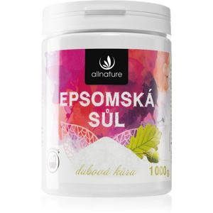 Allnature Epsomská sůl Oak Bark soľ do kúpeľa 1000 g
