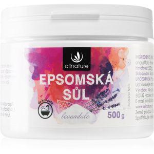 Allnature Epsomská sůl Lavender soľ do kúpeľa 500 g