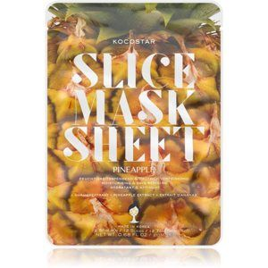 KOCOSTAR Slice Mask Sheet Pineapple plátenná maska so spevňujúcim účinkom 20 ml