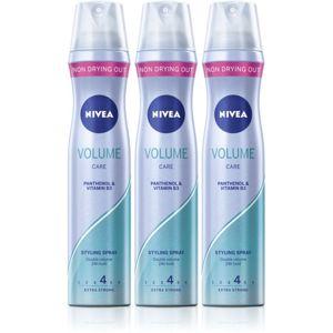 Nivea Volume Care lak na vlasy pre zväčšenie objemu 3 x 250 ml
