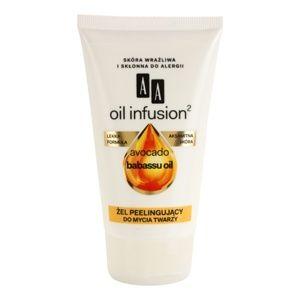AA Cosmetics Oil Infusion2 Avocado Babassu čistiaci peelingový gél