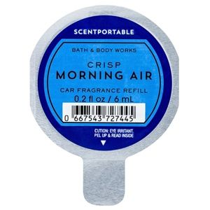 Bath & Body Works Crisp Morning Air vôňa do auta náhradná náplň 6 ml