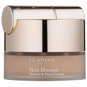 Clarins Face Make-Up Skin Illusion púdrový make-up so štetčekom odtieň 114 Cappucino 13 g