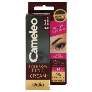 Delia Cosmetics Cameleo profesionálna krémová farba na obočie bez amoniaku odtieň 3.0 Dark Brown 15 ml