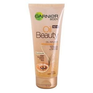 Garnier Oil Beauty vyživujúci olejový telový peeling pre suchú pokožku 200 ml