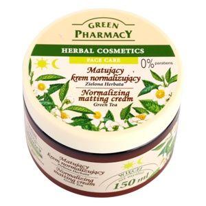 Green Pharmacy Face Care Green Tea zmatňujúci krém pre mastnú a zmiešanú pleť 150 ml