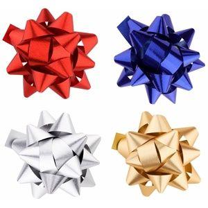 Giftino Wrapping darčeková nalepovacia hviezda sada štyroch farieb