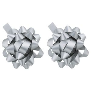 Giftino Wrapping darčeková hviezda strieborná 2 ks
