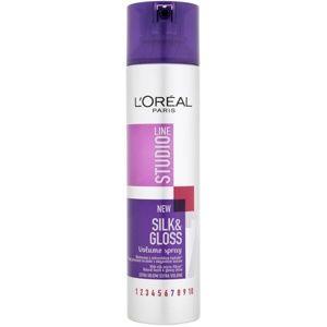 L'Oréal Paris Studio Line Silk&Gloss Volume sprej pre objem a lesk
